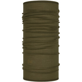 Buff Lightweight Merino Wool Scaldacollo tubolare, solid bark